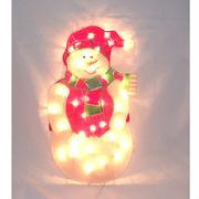 Гирлянда-панно «снеговик»