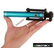 Палка для селфи раздвижная,  длина 80 см,  алюминиевая ручка